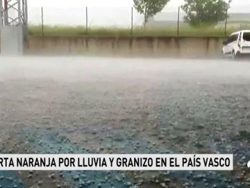 Alerta naranja por lluvia y granizo en el norte de España