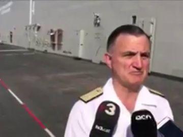 El almirante de la Armada afirma que ellos trabajan por la paz tras las críticas de la CUP