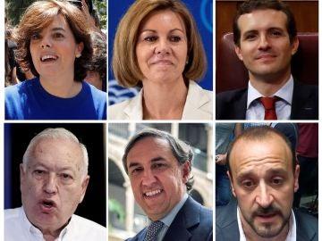 Los candidatos a las primarias del Partido Popular