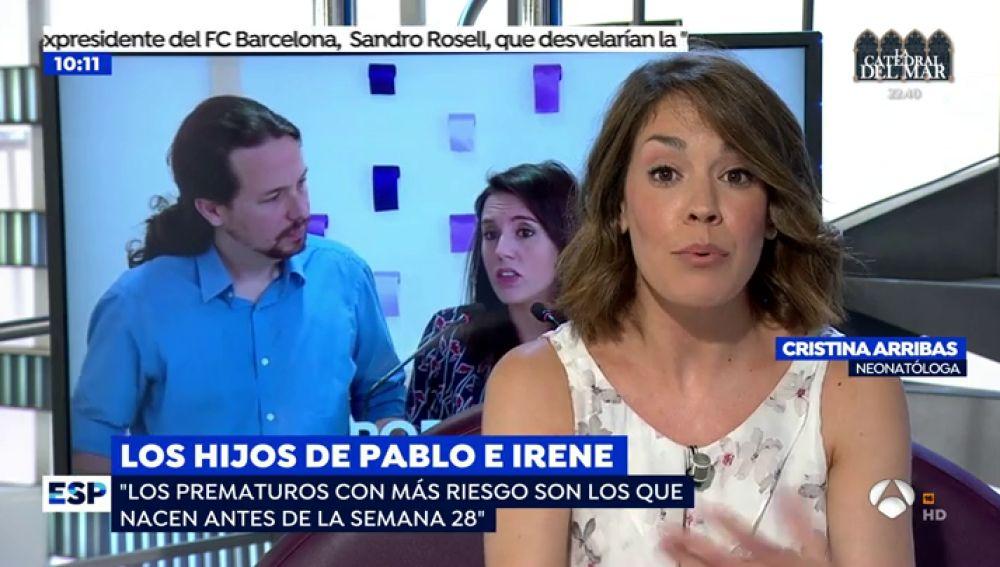 """Cristina Arribas, neonatóloga: """"Un prematuro de 26 semanas tiene un 75% de tasa de supervivencia"""""""