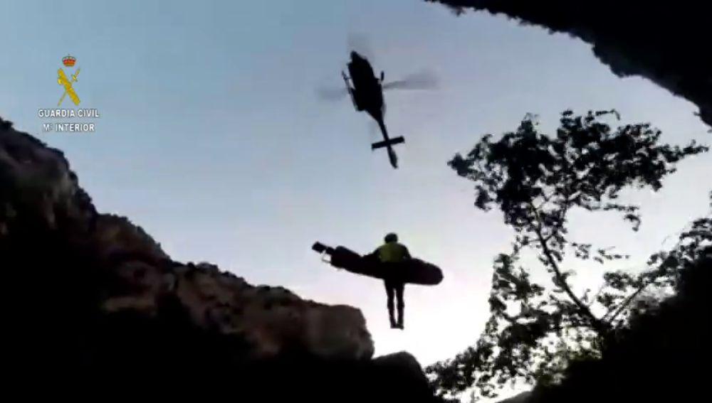 La Guardia Civil de Huesca rescata a una barranquista fallecida en el río Vero