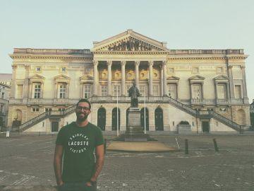 El rapero Valtonyc en su reaparición en Bélgica tras huir de la justicia española