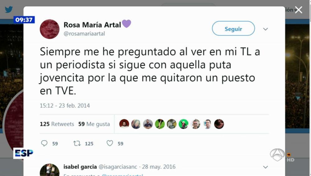 Tuit de Rosa María Artal