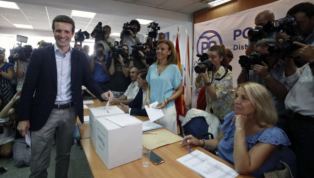 El candidato a la presidencia del PP Pablo Casado