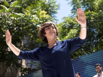 La candidata a presidir el Partido Popular Soraya Sáenz de Santamaría