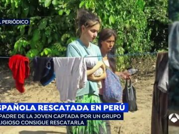 Joven rescatada en Perú
