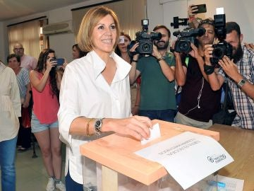 La candidata a la presidencia del Partido Popular ,Mª Dolores de Cospedal