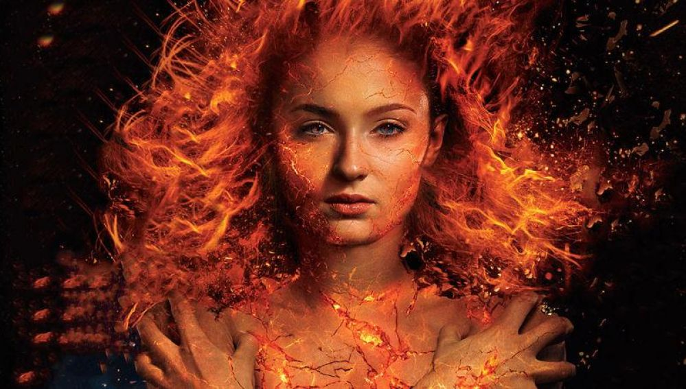 Sophie Turner caracterizada para X-Men: Dark Phoenix