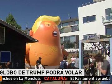 Un globo gigante de Donald Trump en pañal sobrevolará Londres durante la visita del presidente estadounidense