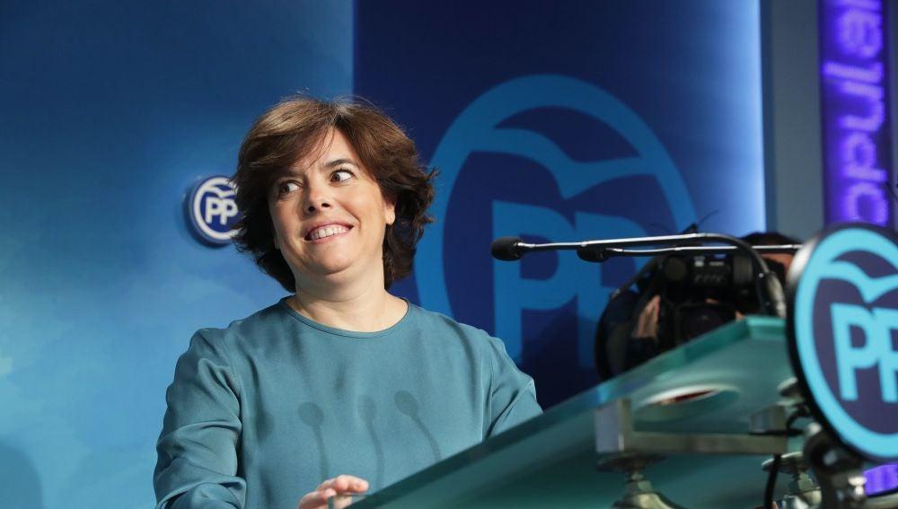 La exvicepresidenta del Gobierno Soraya Sáenz de Santamaría