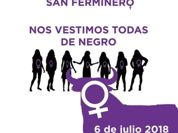 Convocatoria feminista para llevar camisetas negras en el chupinazo