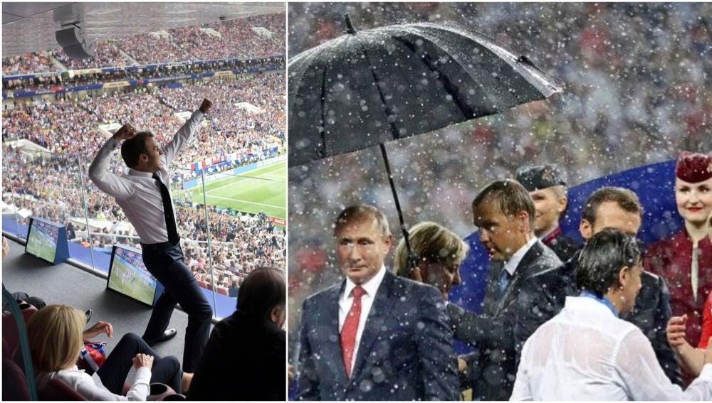 Macron y Putin, 'protagonistas' en la final
