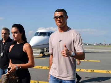 Cristiano Ronaldo, a su llegada a Turín