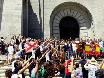 Protesta en el Valle de los Caídos