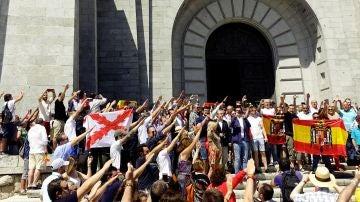 Protesta en el Valle de los Caídos (Archivo)
