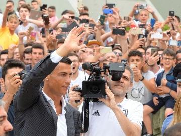 Cristiano Ronaldo llega a Turín