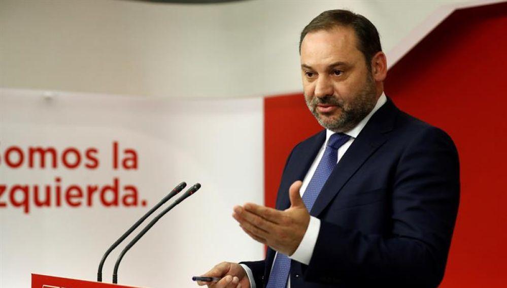 José Luis Ábalos, en rueda de prensa