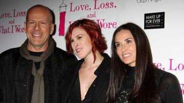 Bruce Willis y Demi Moore junto a su hija Rummer