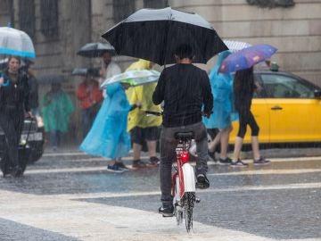 Lluvia y tormentas en Barcelona