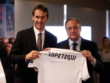 Presentación de Julen Lopetegui con el Real Madrid