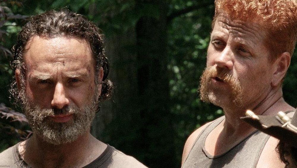 Andrew Lincoln y Michael Cudlitz en 'The Walking Dead'