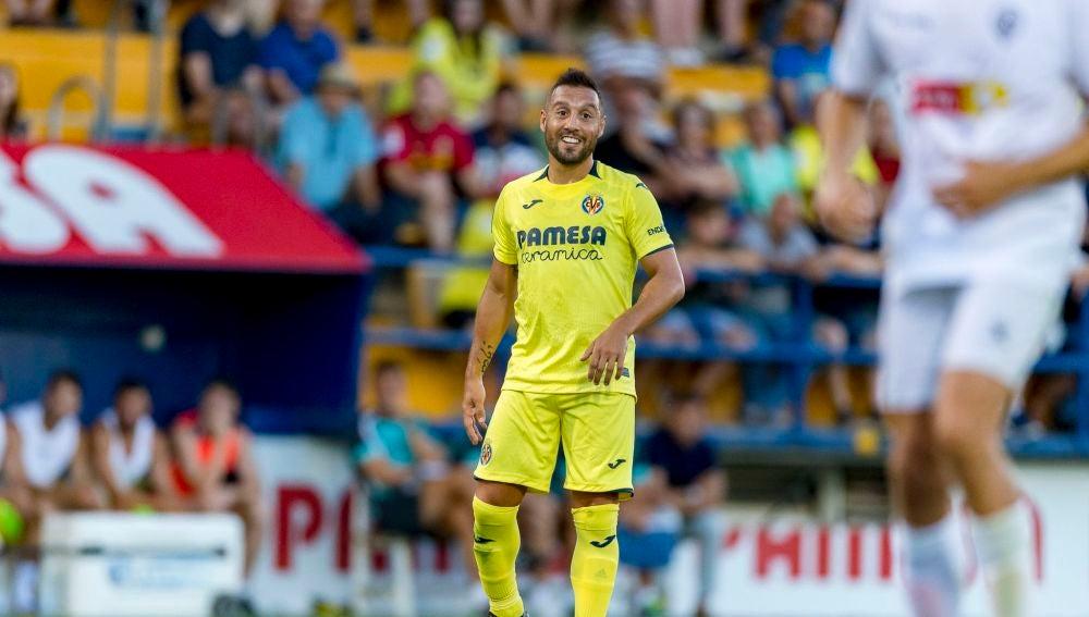 Cazorla, en un partido con el Villarreal