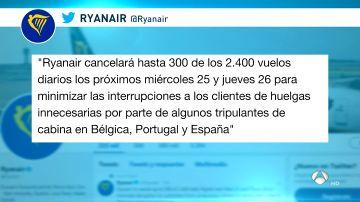 48423cd37e8 Ryanair amenaza con irse de España si no puede implementar su modelo de  negocio en el país, según sindicatos