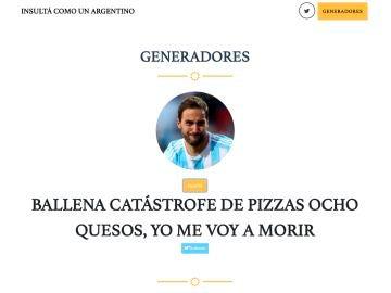 Pagina de insultos argentina