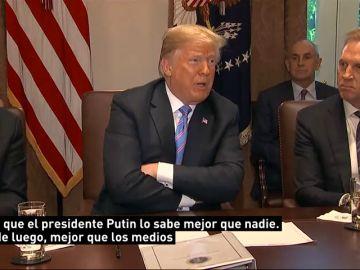 Trump asegura que Rusia ya no está interfiriendo en el sistema político de EEUU