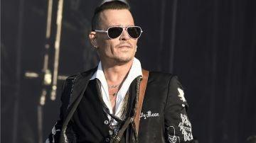 Johnny Depp en su gira con The Hollywood Vampires