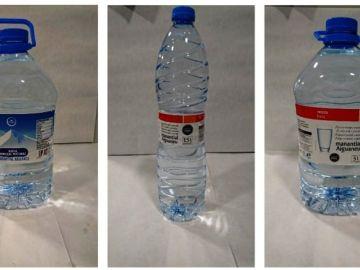 Las botellas de agua retiradas