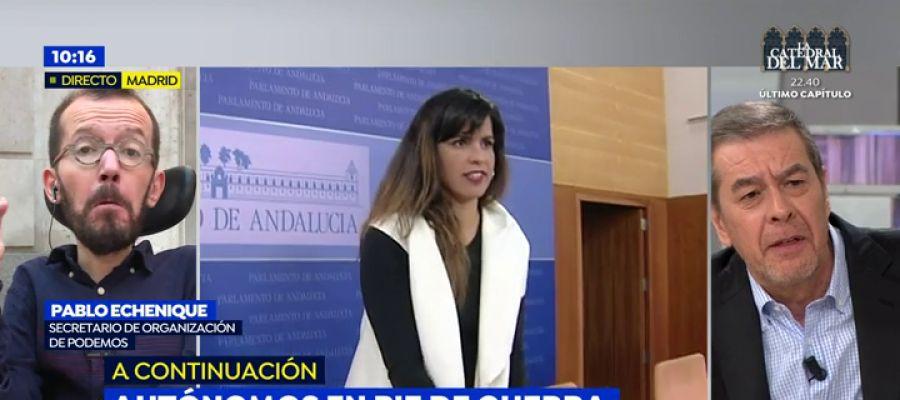Antena 3 tv pablo echenique a los tertulianos de espejo for Antena 3 espejo publico hoy