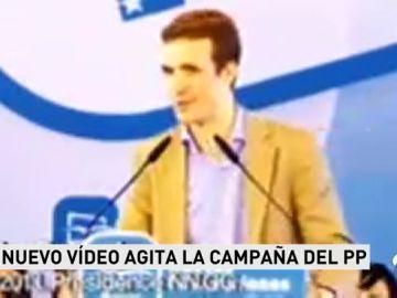 REEMPLAZO Guerra de vídeos en el PP: Un nuevo material retrata la trayectoria de Casado con Aguirre y Aznar