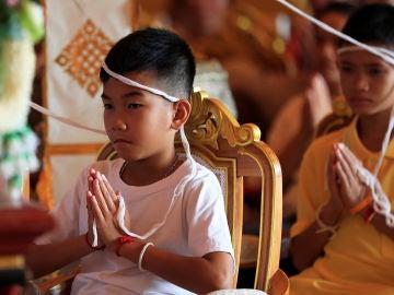 Uno de los doce niños tailandeses rescatados