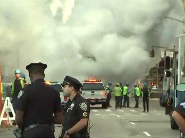 Una conducción de vapor ha explotado en Nueva York