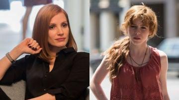Beverly, el personaje interpretado por Jessica Chastain y Sophie Lillis en 'It'