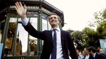 El candidato a liderar al PP, Pablo Casado