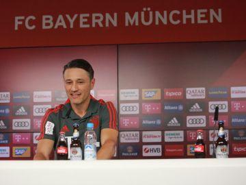 Niko Kovac en rueda de prensa