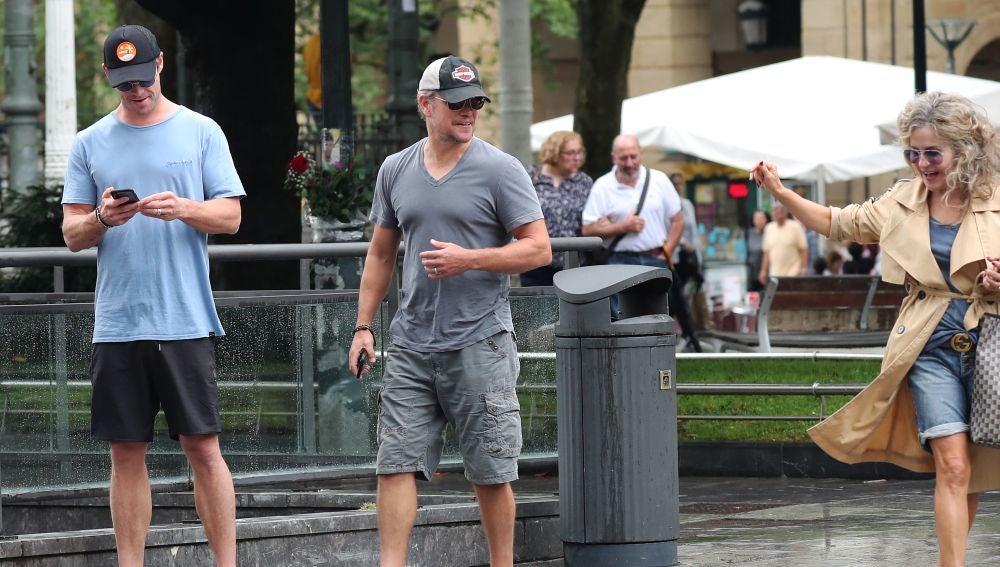 Todo el mundo alucinado al encontrarse a Chris Hemsworth y Matt Damon