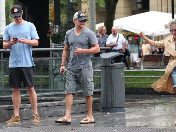 Todo el mundo alucinado al encontrarse a Chris Hemsworth y Matt Damon