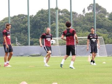 Andrés Iniesta, con el Vissel Kobe