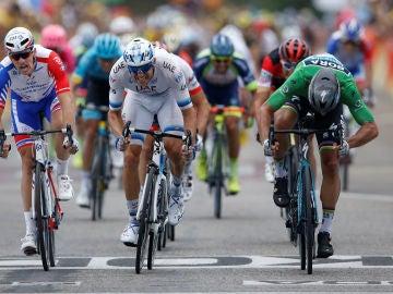 Victoria de Sagan en el 'sprint'