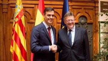 Pedro Sánchez y Ximo Puig