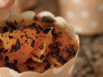 Pasteles de sémola con naranja