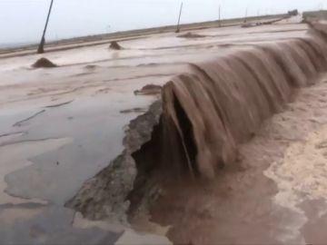 Alerta amarilla por las fuertas lluvias en China