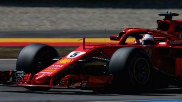 Vettel, en su Ferrari