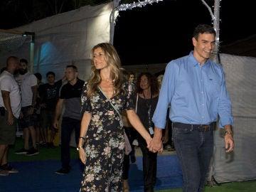 Pedro Sánchez y su mujer en el FIB