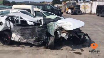 Cuatro muertos en un choque frontal entre un turismo y una furgoneta en Vidreres