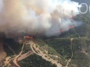 Un incendio en Casares obliga a desalojar más de una decena de viviendas