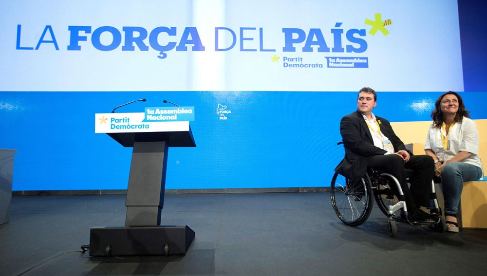 David Bonvehí junto a Mercè Conesa